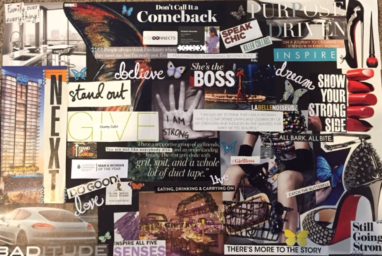 Kimberly Alexander, kimconnects, myeloma, cancer, charity, host, widow, empty nest, resilience, strong, reinvent, vision board